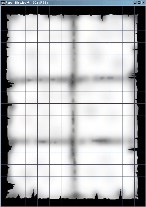 Picture 9: Use the Airbrush to darken the edges, and also the middle vertical grid, and two horizontal grids