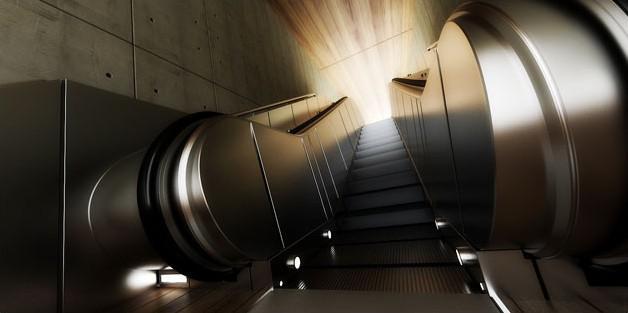 Fig. underground-escalator-distort diffuse glow