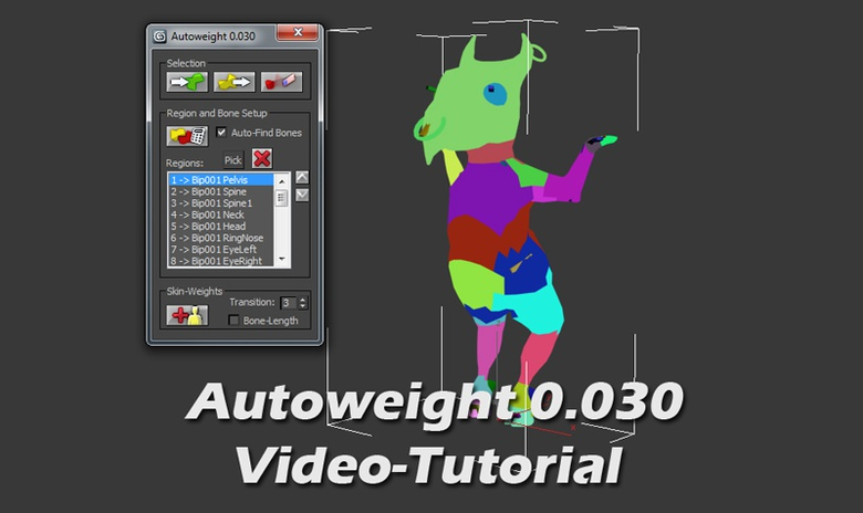 Autoweight in 3ds Max · 3dtotal · Learn | Create | Share