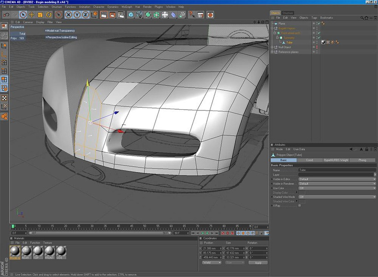Bugatti Veyron (C4D): Chapter 1 · 3dtotal · Learn | Create