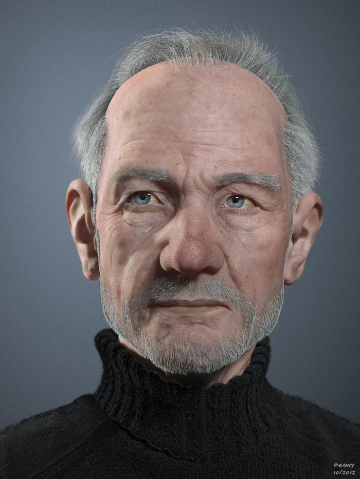 Making Of Old Man by Frederic Scarramazza 3dtotal