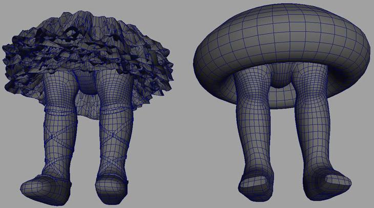 Fig. 15 - Low res cage for complex/multiple meshes