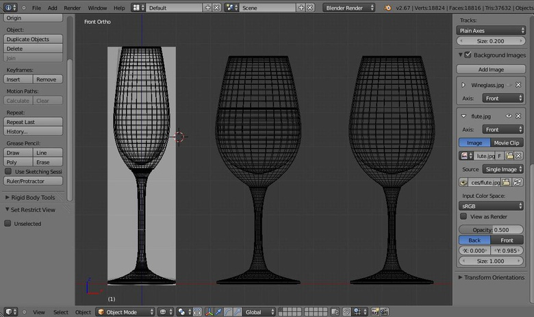 The wireframe of our glasses