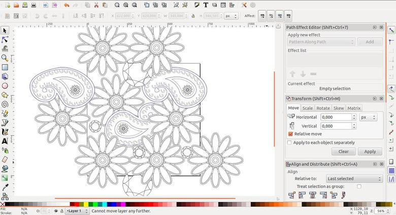 Create texture with Inkscape