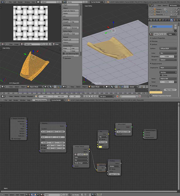 Cloth material and simulation baking