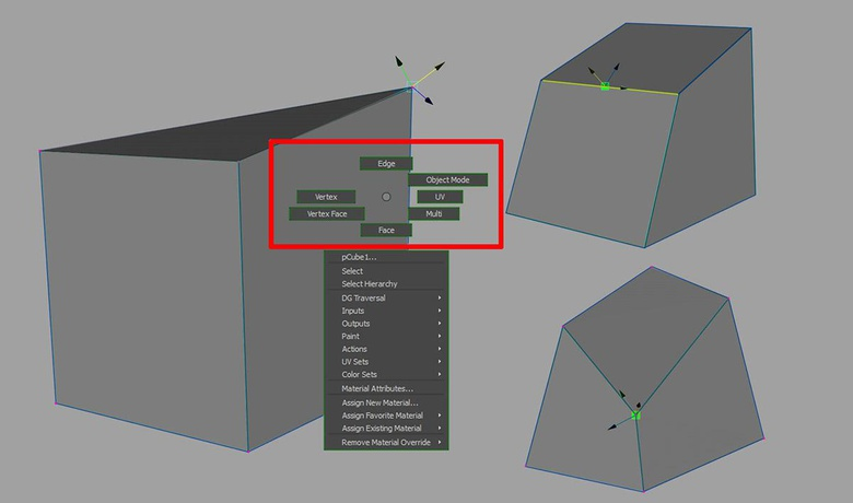 Editing the geometry on a sub-component level allows you to make localised changes as opposed to global changes