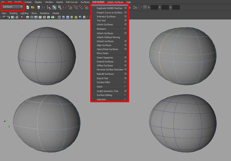 Editing a NURBs surface