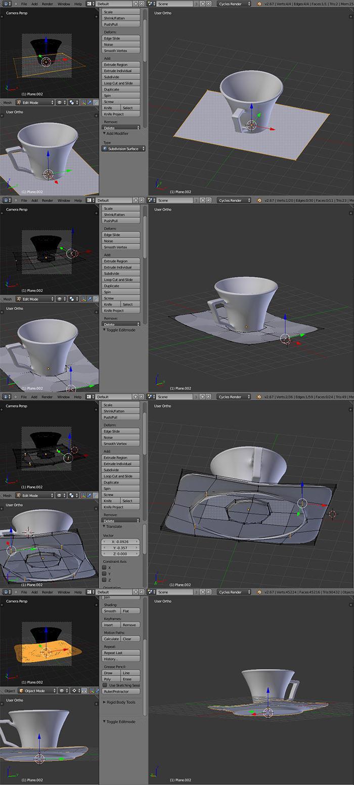 Modeling saucer