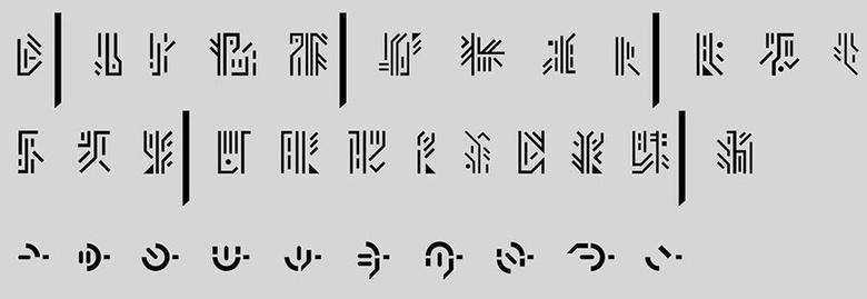 Alien font from <em>District 9</em>