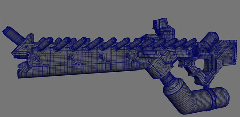 Weapon model and wireframe