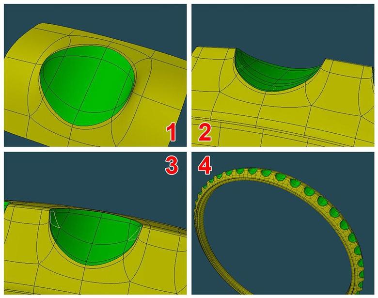 Final shape adjustments