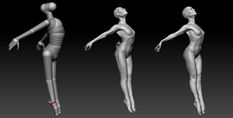 Achieving a graceful, ballerina-like pose was challenging, but rewarding