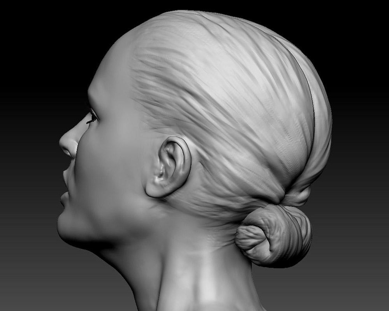 Sculpting the hair was a simple process