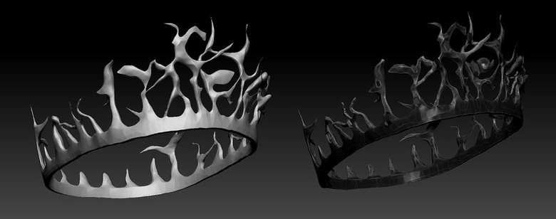DynaMesh helped me to create the tiara, along with a couple of brushes