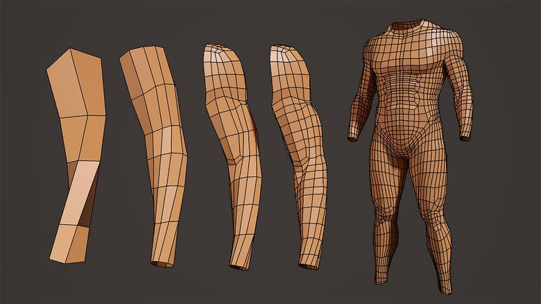 Maya modeling: Arms · 3dtotal · Learn | Create | Share
