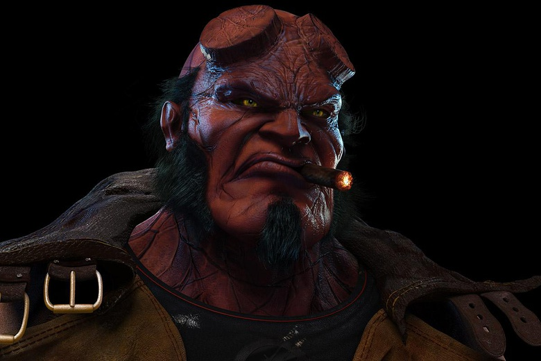 The first render base for Hellboy