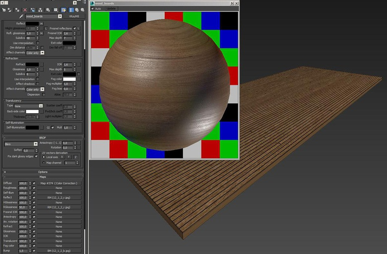 For the wooden boards I created the material here