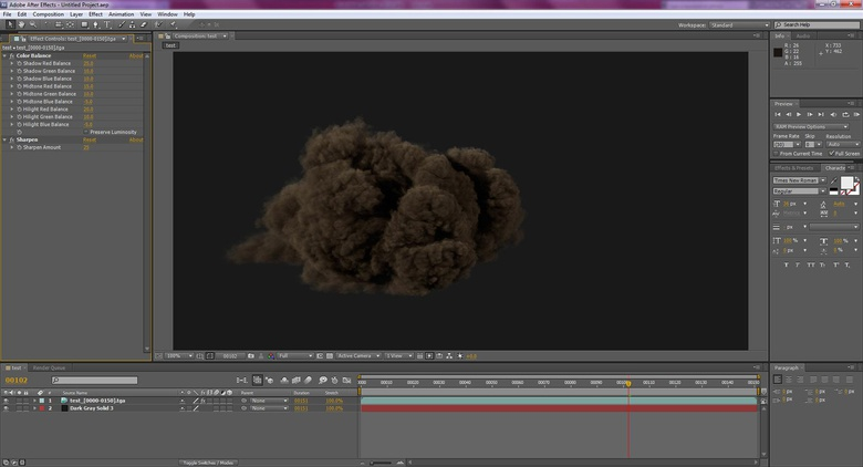 Use these settings in After Effects to composite your scene