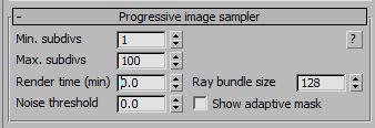 The ray bundle size can easily be set by either using the spinner or by entering the value manually