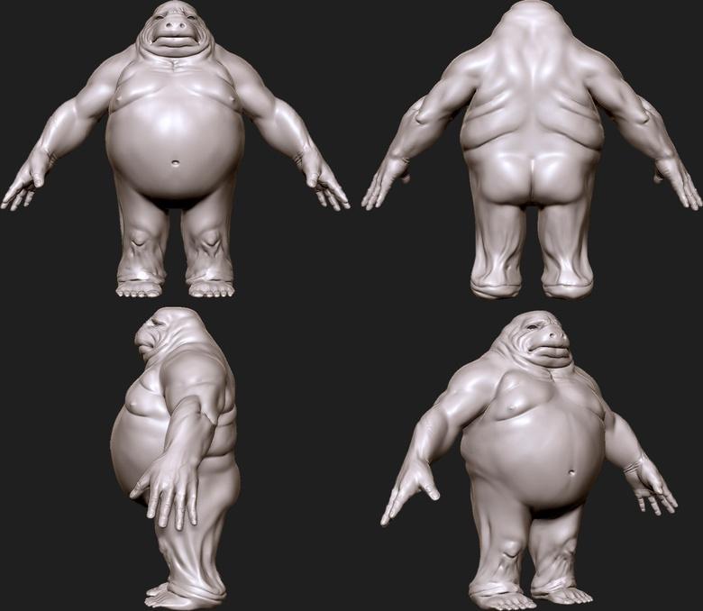 Refining the model in ZBrush