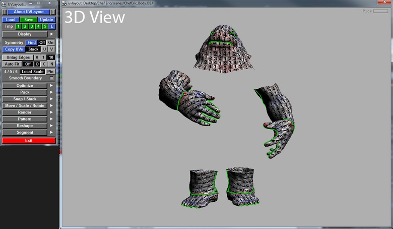 3D View is used to check the UVs