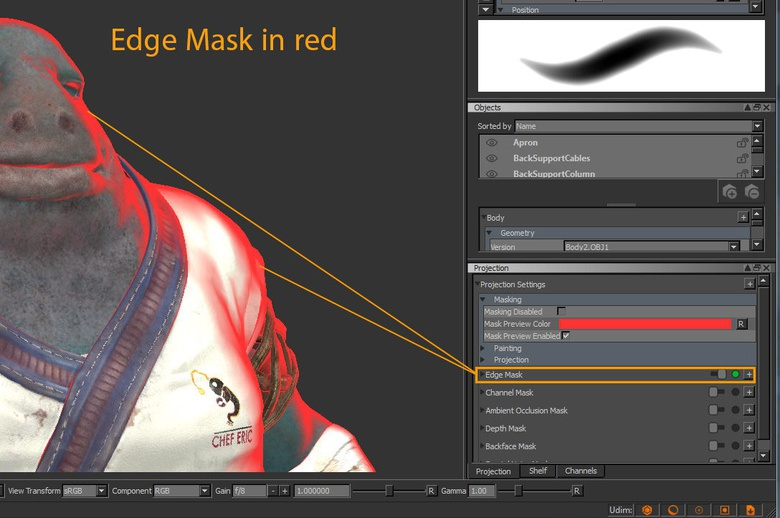 The useful Edge Mask tool in MARI