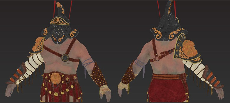 Getting down base colors on the gladiator model