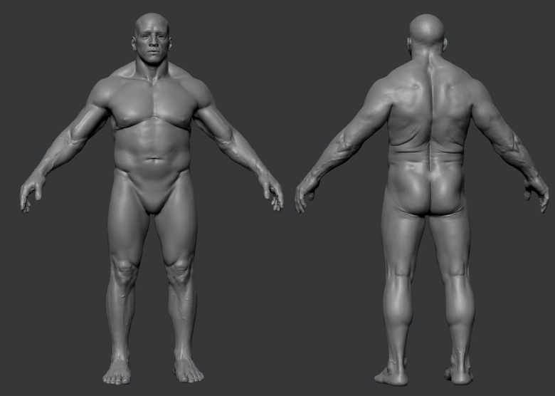 The completed body sculpt