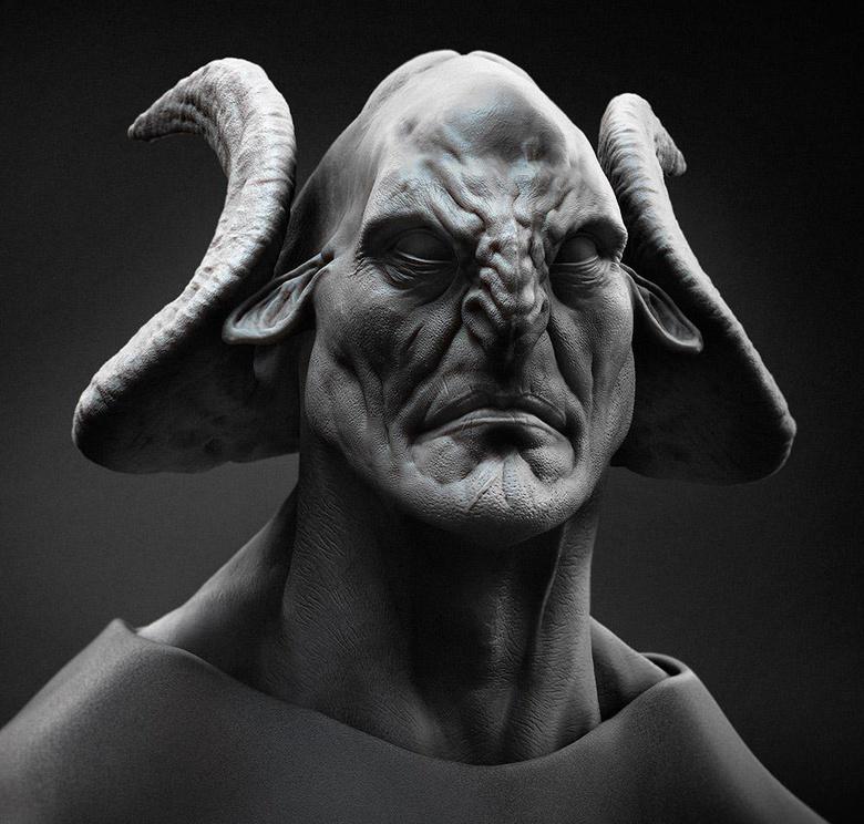 The modeled head of Arminius