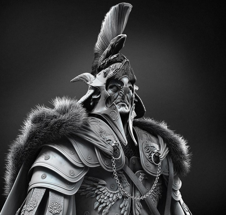 The front view of my model of Arminius