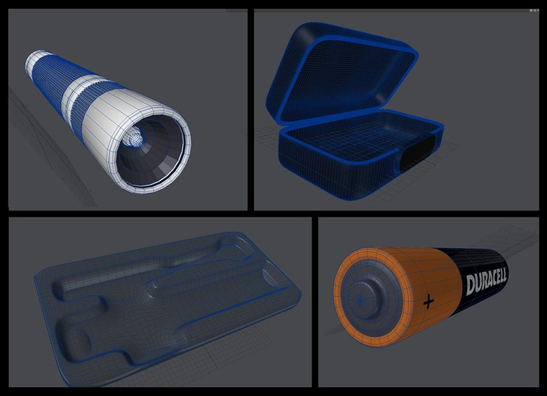Modeling the battery and casing