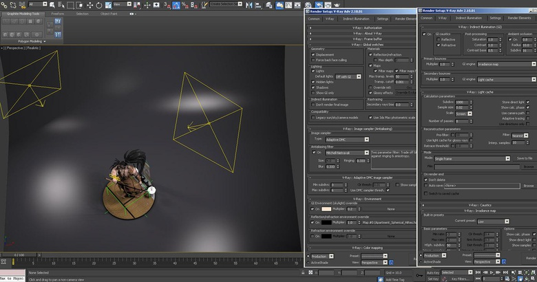 Creating the lighting using the realistic viewport