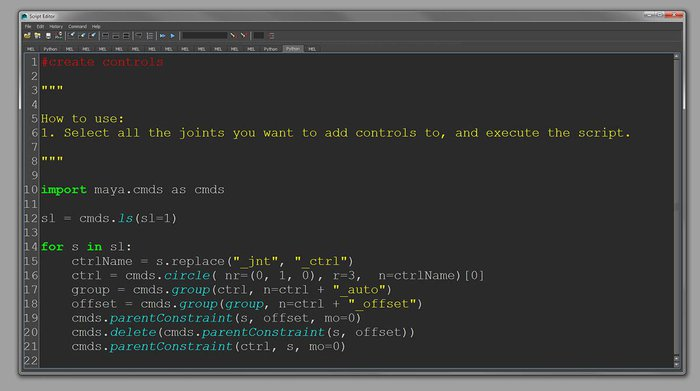 A quick Python script to speed up the process of creating controls