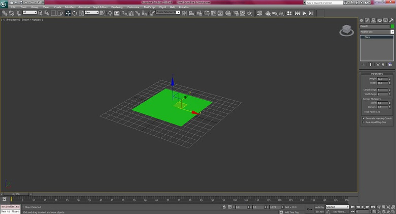 Creating a plane using a standard primitive, and adjusting the settings