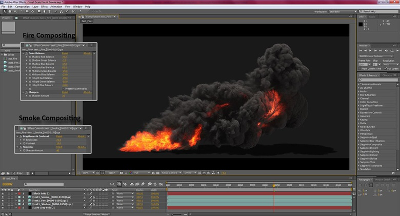 The final adjustments in After Effects