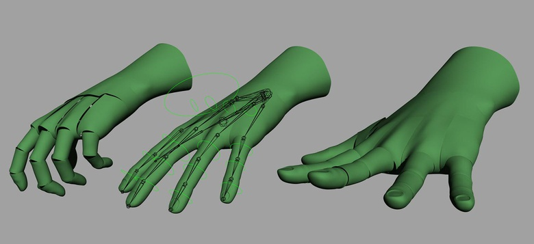 Introduction to rigging in Maya - Part 5 - Rigging the hands