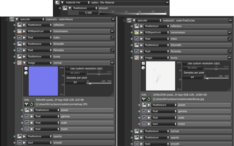 Using the Mix Materials Node to mix the maps