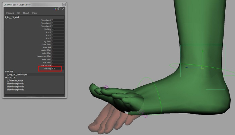 Adding the ability to raise and lower the toes