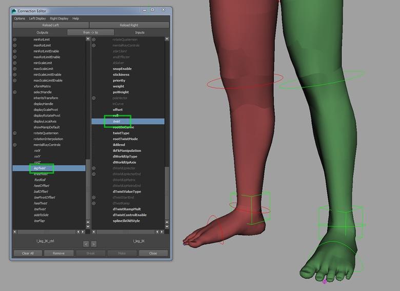 Adding the ability to twist the IK leg