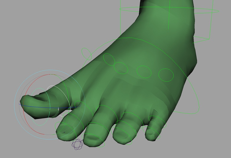 Using a similar setup to the fingers to add extra control to the toes