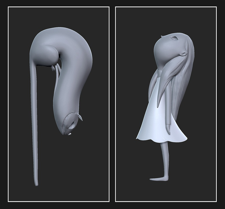 Using the Move, Dam Standard, and Standard brush to sculpt