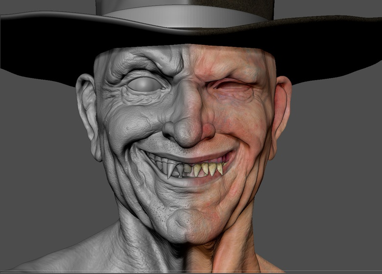 Sculpting and Polypainting will be the main theme of this tutorial