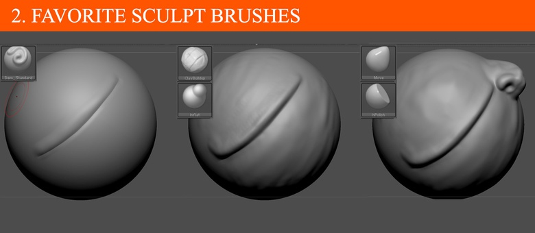 Favorite brushes to use when sculpting characters