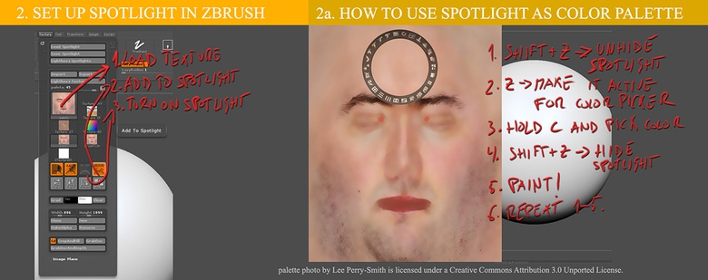 Using Spotlight to add color to your sculpt