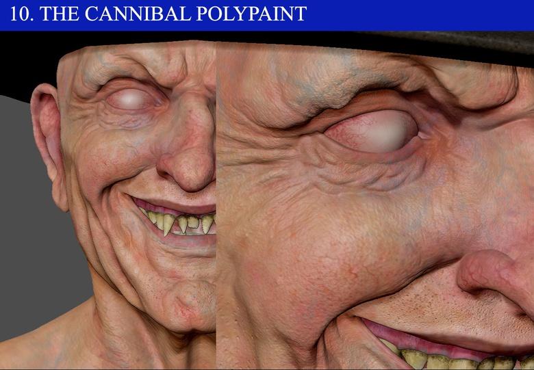 Polypainting <em>The Cannibal</em>