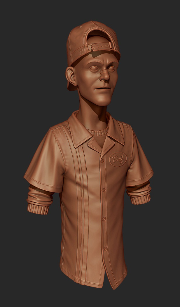 Using Polygroups in this sculpt not only helped keep information isolated and crisp, but also helped managing bakes later for the game resolution asset
