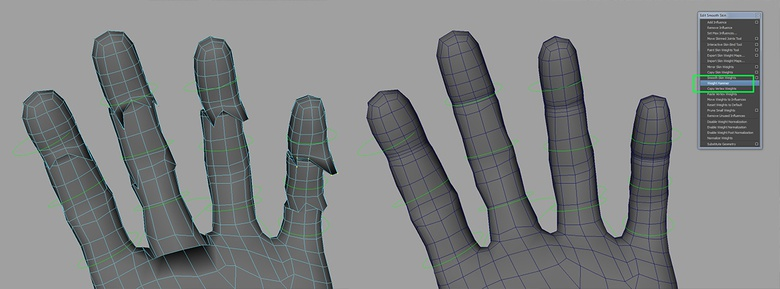 The Weight Hammer can be very useful to tidy up unruly vertices