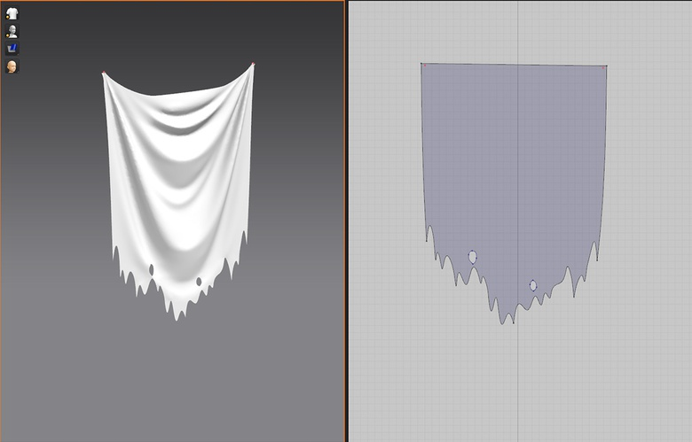 Creating the drapes with Marvelous Designer