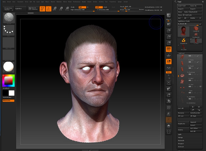 Painting Skin Textures With Color Spray · 3dtotal · Learn