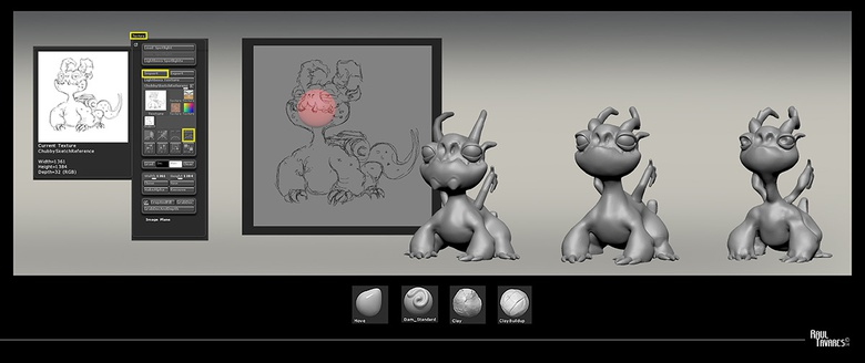 Using spheres as a starting point, and using a combination of brushes to sculpt the form